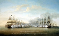Battle of Negapatam, 6 July 1782 painting reproduction, Dominic Serres