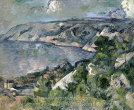 Bay of L'Estaque painting reproduction, Paul C�zanne