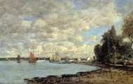 Bay of Plougastel painting reproduction, Eugene-Louis Boudin