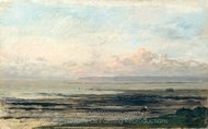 Beach at Low Tide painting reproduction, Charles Daubigny