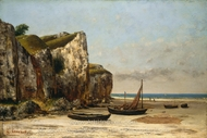 Beach in Normandy painting reproduction, Gustave Courbet