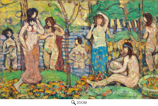 Maurice Prendergast, Beach No. 3 oil painting reproduction