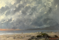 Beach Scene painting reproduction, Gustave Courbet