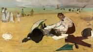 Beach Scene painting reproduction, Edgar Degas
