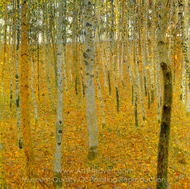 Beech Forest I painting reproduction, Gustav Klimt
