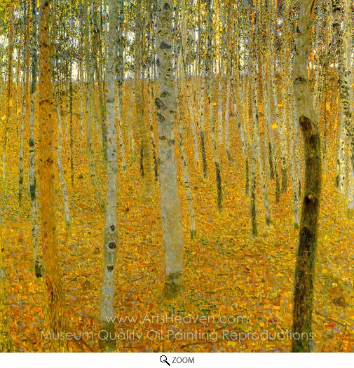 Gustav Klimt, Beech Forest I oil painting reproduction