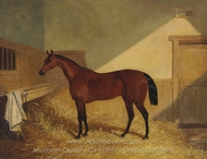 Beeswing, in a Stable painting reproduction, John Frederick Herring Sr.