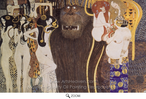 Gustav Klimt, Beethoven Frieze oil painting reproduction