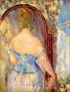 Before the Mirror painting reproduction, �douard Manet