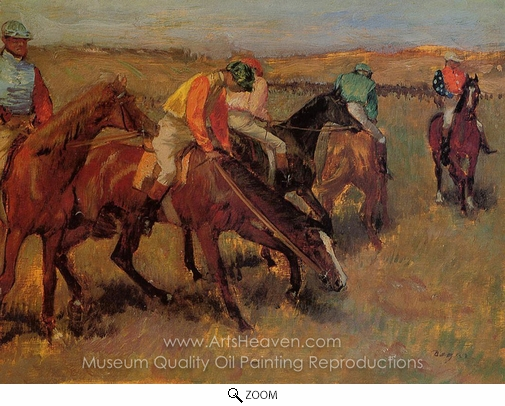 Edgar Degas, Before the Race oil painting reproduction
