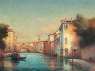 Before the Rialto Bridge painting reproduction, Antoine Bouvard
