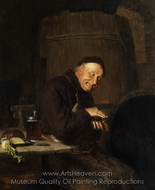 Before the Snack painting reproduction, Eduard Von Grutzner