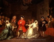 Beggars Opera painting reproduction, William Hogarth