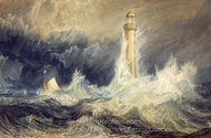 Bell Rock Lighthouse painting reproduction, Joseph M. W. Turner