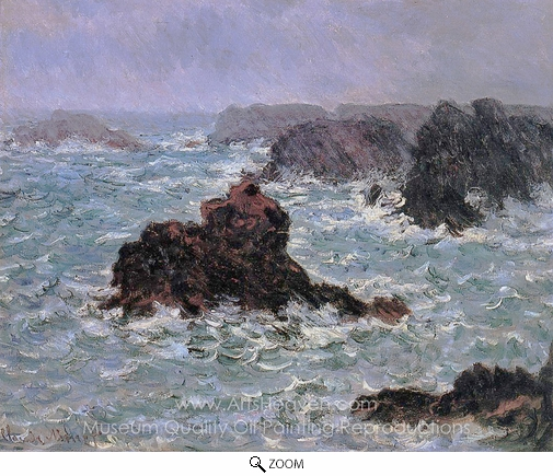 Claude Monet, Belle-Ile, Rain Effect oil painting reproduction