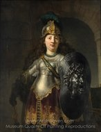 Bellona painting reproduction, Rembrandt Van Rijn