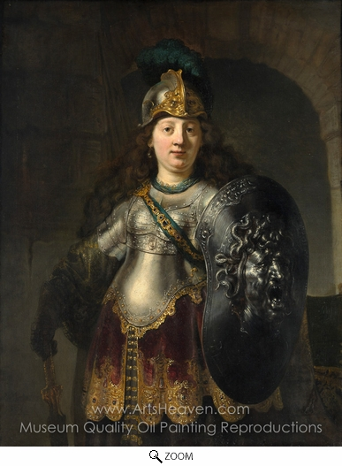 Rembrandt Van Rijn, Bellona oil painting reproduction