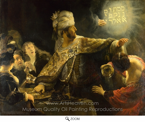 Rembrandt Van Rijn, Belshazzar's Feast oil painting reproduction
