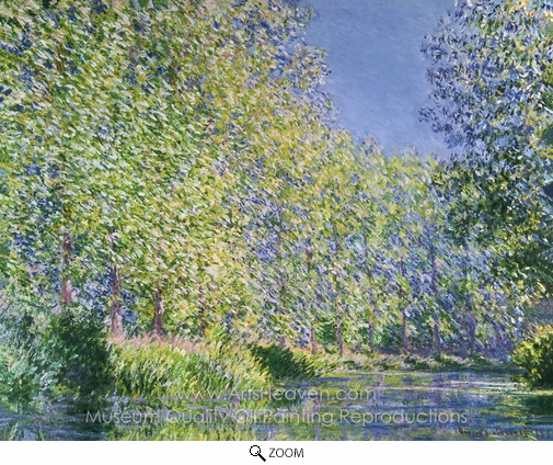Claude Monet, Bend in the River Epte oil painting reproduction