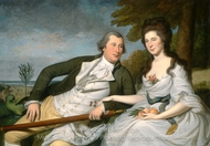 Benjamin and Eleanor Ridgely Laming painting reproduction, Charles Willson Peale