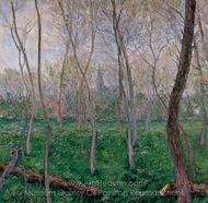 Bennecourt painting reproduction, Claude Monet