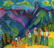 Bergheuer, Heuer on the Alp painting reproduction, Ernst Ludwig Kirchner