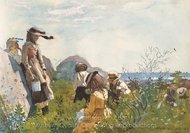 Berry Pickers painting reproduction, Winslow Homer