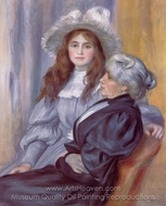 Berthe Morisot and Her Daughter Julie Manet painting reproduction, Pierre-Auguste Renoir