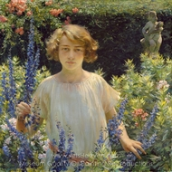 Betty Newell painting reproduction, Charles Courtney Curran