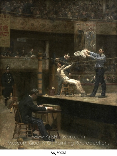 Thomas Eakins, Between Rounds oil painting reproduction