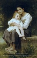 Big Sister (La soeur ainee) painting reproduction, William A. Bouguereau