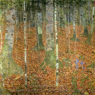 Birch Wood painting reproduction, Gustav Klimt