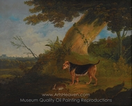 Black and Tan Terrier with a Retrieved Rabbit painting reproduction, John Frederick Herring Sr.