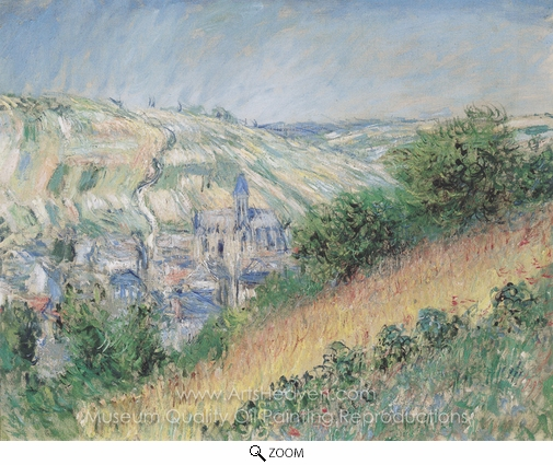Claude Monet, Blick auf Vetheuil oil painting reproduction