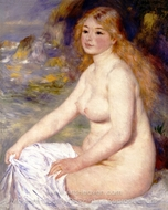 Blonde Bather painting reproduction, Pierre-Auguste Renoir