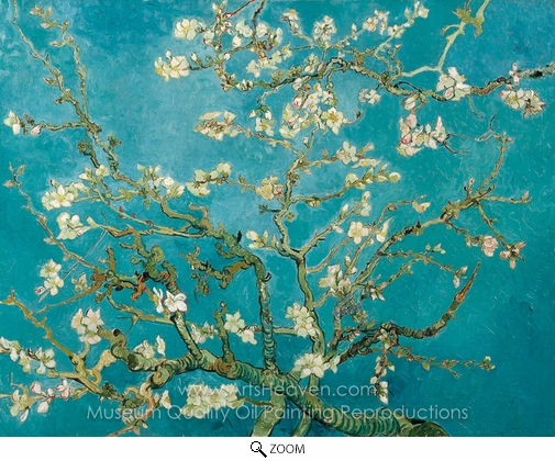 Vincent Van Gogh, Blossoming Almond Tree oil painting reproduction