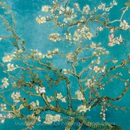 Blossoming Almond Tree (detail) painting reproduction, Vincent Van Gogh