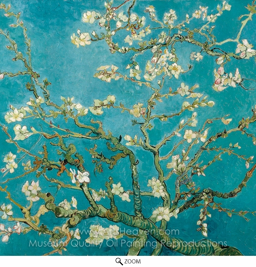 Vincent Van Gogh, Blossoming Almond Tree (detail) oil painting reproduction
