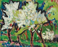 Blossoming Trees IV painting reproduction, Ernst Ludwig Kirchner