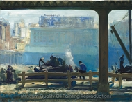 Blue Morning painting reproduction, George Wesley Bellows
