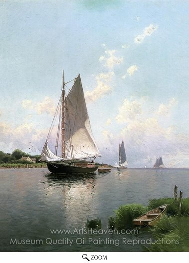 Alfred Thompson Bricher, Blue Point, Long Island oil painting reproduction