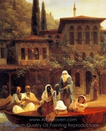 Boat Ride by Kumkapi in Constantinople painting reproduction, Ivan Aivazovskiy