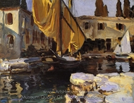 Boat with the Golden Sail, San Vigilio painting reproduction, John Singer Sargent