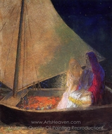 Boat with Two Figures painting reproduction, Odilon Redon