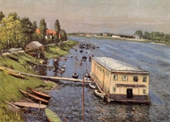 Boathouse in Argenteuil painting reproduction, Gustave Caillebotte