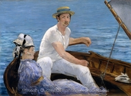 Boating painting reproduction, �douard Manet