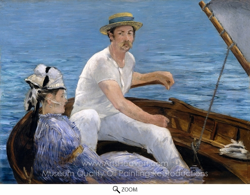 Édouard Manet, Boating oil painting reproduction