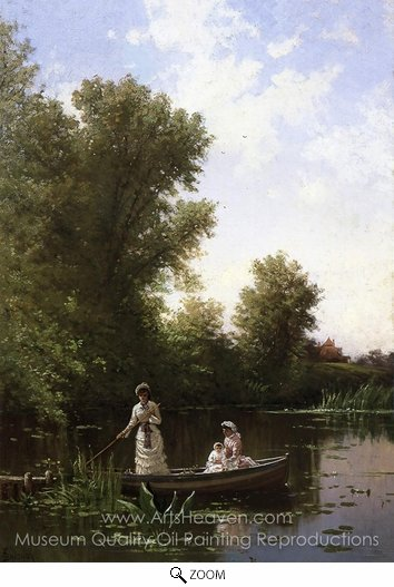 Alfred Thompson Bricher, Boating in the Afternoon oil painting reproduction