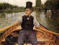 Boating Party painting reproduction, Gustave Caillebotte