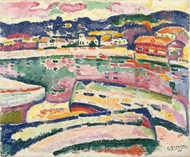 Boats on the Beach at L'Estaque painting reproduction, Georges Braque